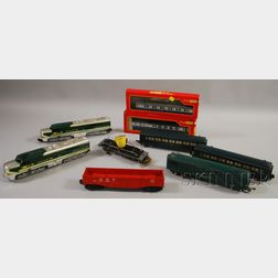 A. C. Gilbert Partial American Flyer Train Set