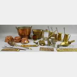 Group of Metal, Copper, Brass, Iron, and Pewter Items