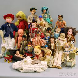 Group of Assorted Vintage Dolls