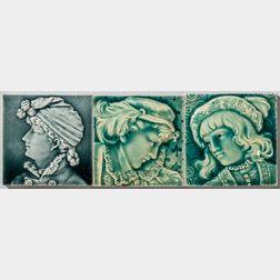 Three Trent Tile Co. Portrait Tiles