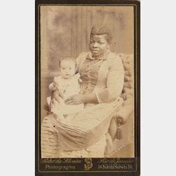 Carte-de-visite Depicting a Black Nanny Holding a White Baby