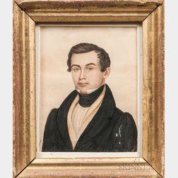 Rufus Porter (Connecticut/Massachusetts, 1792-1884)      Portrait of a New England Gentleman