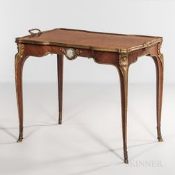Louis XV-style Mahogany-veneered Ormolu-mounted Tray Table