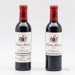 Chateau Montrose 2003, 2 demi bottles