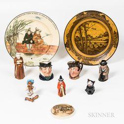 Ten English Ceramic Items