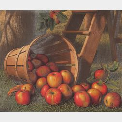 Levi Wells Prentice (American, 1851-1935)      A Basket of Apples