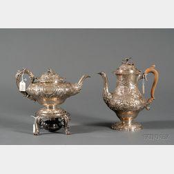 Three Associated George IV Silver Tablewares