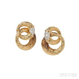 18kt Gold and Diamond Earclips, Boucheron