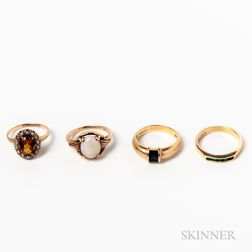 Four Gem-set Rings