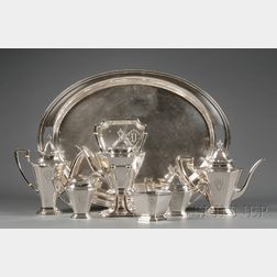 Six Piece Whiting Manufacturing Co. Sterling Tea and Coffee Service