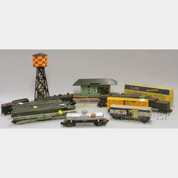 Group of Toy Locomotive, Trains, and Related Material