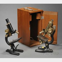 Two Compound Microscopes