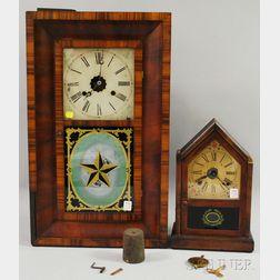 Two Mahogany Shelf Clocks