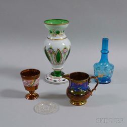 Five Glass and Ceramic Items