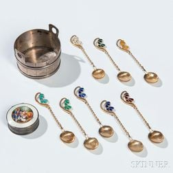 Ten Continental Sterling Silver Items
