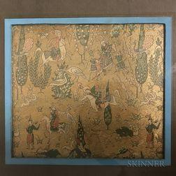 Two Framed Textile Fragments