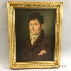 Anglo/American School, 19th Century       Portrait of a Man with Crossed Arms.