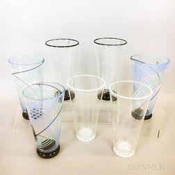 Seven Charlie Meaker Vases