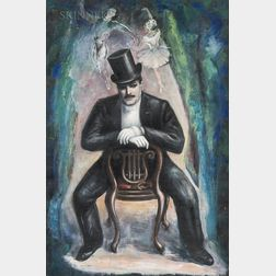 Gaston Longchamp (French/American, 1894-1986)      Serge Diaghilev de Petrushka
