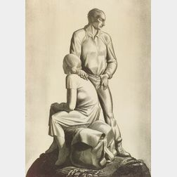 Lot of Two American Prints:  Rockwell Kent (American, 1882-1971), And Now Where?