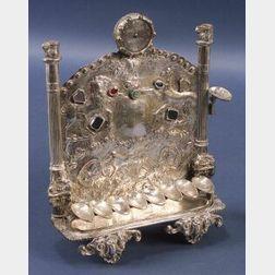 Unusual Silver Hanukah Lamp