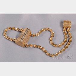 Lady's 14kt Gold and Diamond Wristwatch