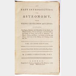Ferguson, James (1710-1776) An Easy Introduction to Astronomy.