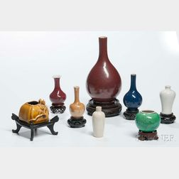 Eight Glazed Ceramic Items