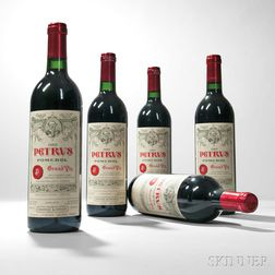 Chateau Petrus 1989, 5 bottles