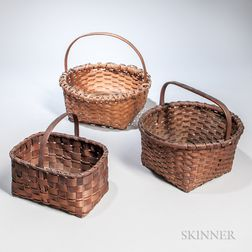 Three Small Splint Baskets