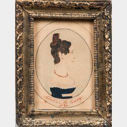 J.T. Newton (American, 19th Century)      Portrait of Adaline B. Eddy, 1824