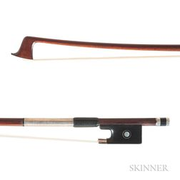 French Silver-mounted Violin Bow, Pascal Camurat