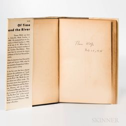 Wolfe, Thomas (1900-1938) Of Time and the River: a Legend of Hunger in a Man's Youth  , Signed First Edition.