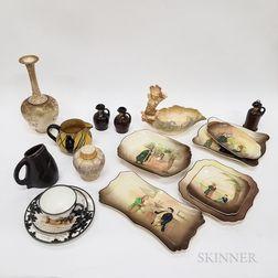 Seventeen Doulton Ceramic Items