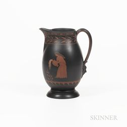 Wedgwood Encaustic Decorated Black Basalt Pitcher