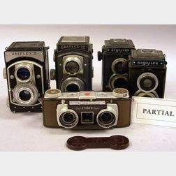Large Lot of Mainly 120-Rollfilm TLR Cameras