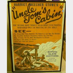 Framed Uncle Tom's Cabin   Theatrical Poster