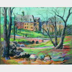 Elmer L. Ham (American, 1884-1978)      Lot of Two Park Views