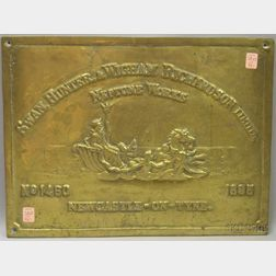 Swan, Hunter, & Wigham Richardson Limited, Neptune Works Cast Brass Plaque