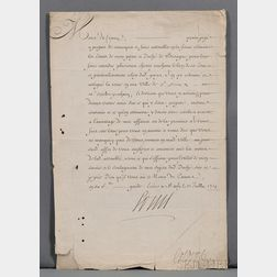 Louis XIV, King of France (1638-1715) Document Signed.