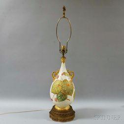 Royal Worcester Ceramic Handled Vase