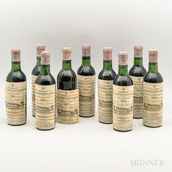 Chateau La Mission Haut Brion 1966, 9 demi bottles