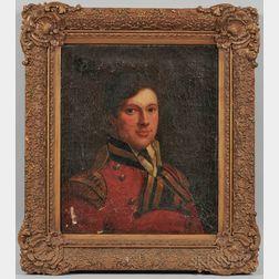 British School, 19th Century      Portrait of a Soldier