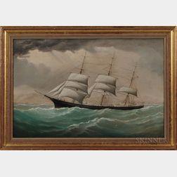 Joseph Witham (British, 1832-1901)      Portrait of the Vessel John R. Kelley