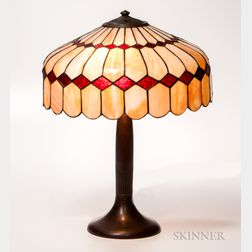 Handel Slag Glass Table Lamp