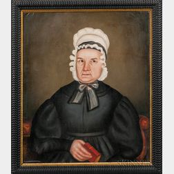 Royal Brewster Smith (Maine, 1801-1855)      Portrait of an Older Woman with a Bible