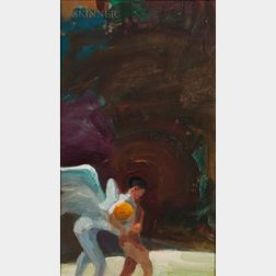 Paul Wonner (American, 1920-2008)      Jacob Wrestling with an Angel