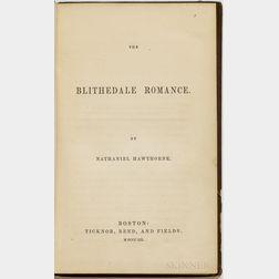 Hawthorne, Nathaniel (1804-1864) The Blithedale Romance.