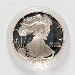 1995-W Proof American Silver Eagle.     Estimate $2,000-3,000