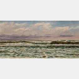 John Brett (British, 1831-1902)      Seascape